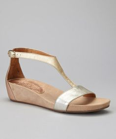 Love this Metallic Wedge Sandal by Wonders on  zulily!  zulilyfinds  Sandalias Planas 7cda84ae0b8