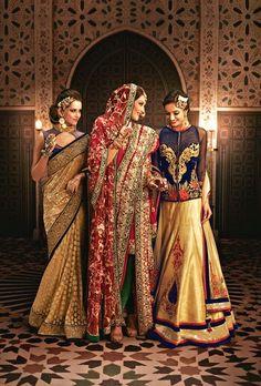 Kashish India - Bridal Khada Dupatta { Hyderabadi Bride }