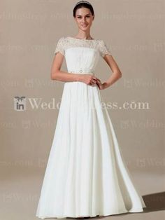 Awesome simple wedding dresses with sleeves 2017-2018
