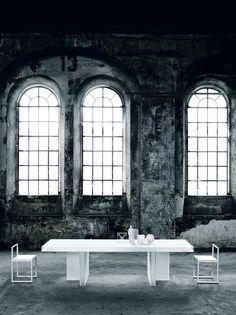 Verglas Table by GlasItalia - Via Designresource.co