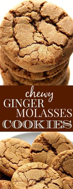 #dessert #cookies #chewy Chewy Ginger Molasses Cookies - classic holiday cookie that everyone loves! No special ingredients and no chilling the dough required! Fun Cookies, Holiday Cookies, Baking Sheet, Baking Soda, Ginger Molasses Cookies, Parchment Paper, Granulated Sugar, Unsalted Butter, Chilling