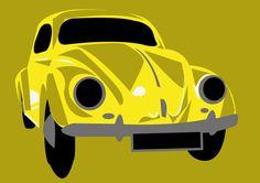 VW Beetle Yellow by PurplePetrolPump