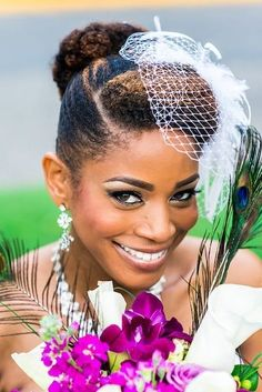 20 Natural Wedding Hairstyles for The Naturally Glam Bride. Deciding to wear your hair all natural on your wedding day is a beautiful thing. Wedding Hairstyles For Women, Natural Wedding Hairstyles, Bridal Hairstyles, Black Power, Natural Bridal Hair, Curly Hair Styles, Natural Hair Styles, Natural Beauty, My Hairstyle