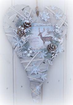 Mitt Lille Papirverksted: My Blue Christmas Heart for You