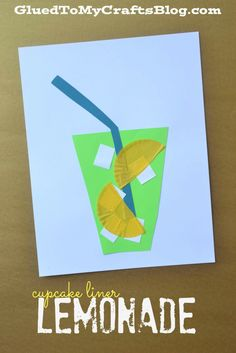 Cupcake Liner Lemonade - Kid Craft