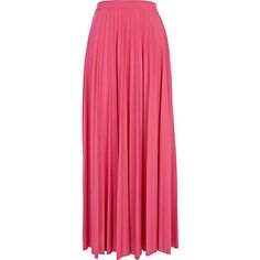 Pink pleated maxi skirt - skirts - sale - women
