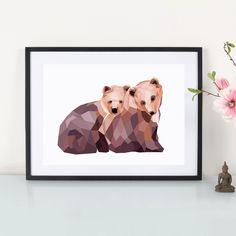Artprint / Mosaik Bären By : Eulenschnitt