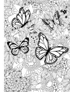 Amazon.com: Adult Coloring Book: Butterflies and Flowers : Stress Relieving Patterns (Volume 7) (9781516866748): Cherina Kohey: Books