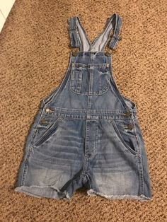 b3b7e64b49e My American Eagle short faded denim overalls by American Eagle Outfitters.  Size XXS   0