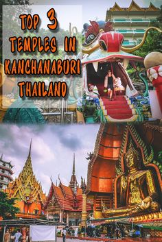 Thailand is full of temples but some of the most unique and unusual we visited were in Kanchanaburi, along the river kwai.