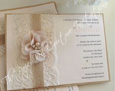 Rustic Vintage Garden Lace Collection by thepaperveilcouture