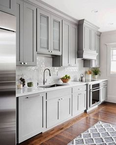 "1,274 Likes, 18 Comments - Williams Sonoma Home (@wshome) on Instagram: ""Double tap if you think these kitchen cabinets are the perfect shade of grey! via @homebunch"""