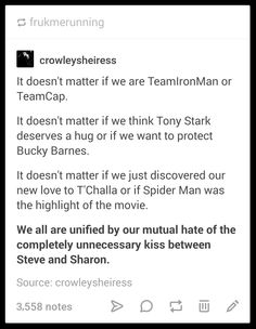 100% true  #Marvel #CivilWarSpoilers