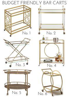 Budget Friendly Bar Carts | Effortless Style Blog | Bloglovin'