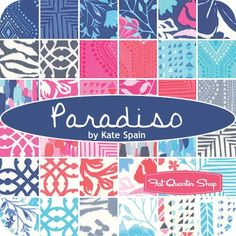 Paradiso Fat Quarter Bundle ReservationKate Spain for Moda Fabrics - Fat Quarter Bundles | Fat Quarter Shop