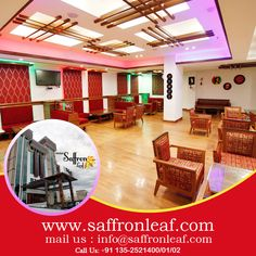 #Stay with us and #feel #like #Home... Visit Us at: www.saffronleaf.com Or Call Us at: +91 135-2521400