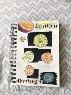 Art journal #lemon #orange #collage #fruits #watercolor My Drawings, Lemon, Collage, Journal, Watercolor, Orange, Art, Watercolor Painting, Journal Entries