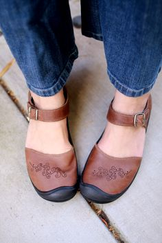 Keen Mary Jane Shoes! I have these in black & never travel without them.....the best walking shoes ever.