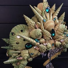 Bridal Hair Vine, Bridal Crown, Bridal Tiara, Mermaid Headpiece, Mermaid Crown, Ocean Hair, Seashell Crown, Sea Queen, Crown Crafts