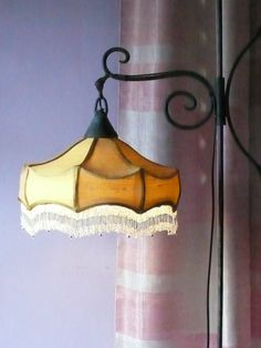 lampshade in silk and glass fringe, collection Carolina Breuer