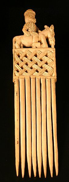 Hair comb elephant ivory  Found/Acquired Benin City (all objects) (Africa,Nigeria,Edo State,Benin City) Ethnic group Made by Edo