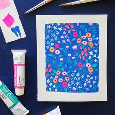 """465 mentions J'aime, 22 commentaires - Gemma Luxton (@gemmaluxton) sur Instagram: """"Floral patterns for a birthday card ✨#illustration #floral #surfacepattern #gouache #holbein…"""""""