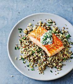 Salmon-and-quinoa-tzatziki-salad