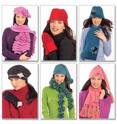 McCall's Pattern 5773  Misses' Hats, Scarves and Mittens