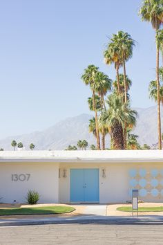 mid century blues, Indian Canyon area of Palm Springs