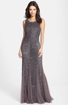 f049a2e5a Aidan Mattox Beaded Gown available at #Nordstrom Aidan Mattox, Beaded Gown,  Gold Sequins