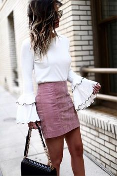 Cute bell sleeve outfit ideas