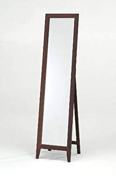 Kings Brand Furniture Kings Brand Walnut Finish Solid Wood Frame Floor Mirror, x Wooden Living Room Furniture, Modern Bedroom Furniture, Home Decor Mirrors, Wood Home Decor, Art Decor, Glass Dinning Table, Round Coffee Table Modern, Wood Framed Mirror, Tall Mirror