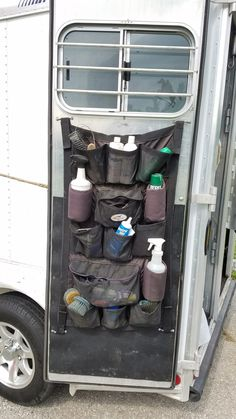 I made several additions and upgrades to my little 2 horse bumper pull trailer to make better use of limited space and for ease of use. Here are a few ideas: (Warning: LOTS of pictures! Horse Camp, Western Horse Tack, Horse Gear, Horse Tips, Western Saddles, Horse Tack Rooms, Horse Stables, Horse Barns, Horse Trailer Organization