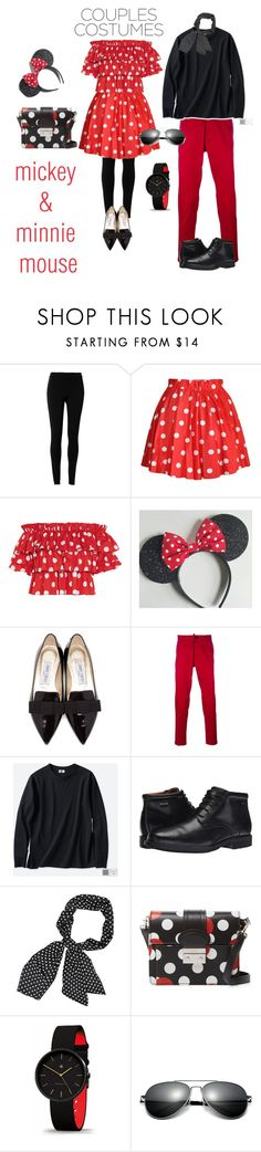 """mickey & minnie mouse"" by freshdee ❤ liked on Polyvore featuring Max Studio, Caroline Constas, Jimmy Choo, Dsquared2, Uniqlo, Rockport and RED Valentino"