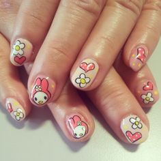 my melody nailart. Instagram photo by @nail28tsenwei via ink361.com