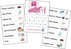 bedtime routine and sleep chart for kids