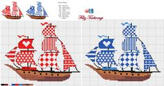 ru / Photo # 94 - The sea, the ships (the scheme) - Olgakam Cross Stitch Sea, Cross Stitch Bookmarks, Cross Stitch Charts, Cross Stitch Patterns, Embroidery Sampler, Cross Stitch Embroidery, Blackwork Patterns, Cross Stitch Pictures, Cross Stitching
