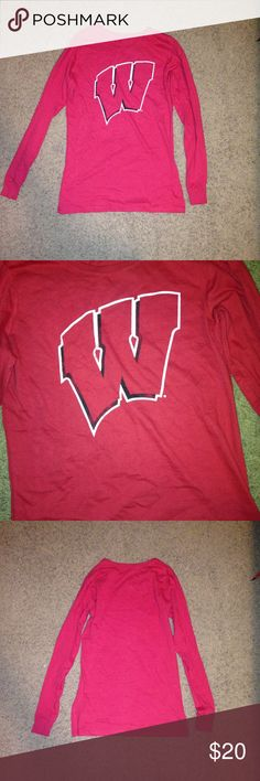 NWOT Wisconsin Badgers Long Sleeve (fits XS or S) What better way to show off your Wisco pride than flaunting this shirt! This shirt is new w/o tags and is looking for a Badger fan to be its new owner. It's a bit tight around the arms for a small so this could probably fit an XS or S women's! Not from Nike, just using the brand for exposure. Nike Tops Tees - Long Sleeve
