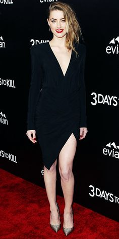 Look of the Day - February 15, 2014 - Amber Heard in Alexandre Vauthier from #InStyle