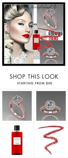 """""""& FabianDiamonds & 11/II"""" by nura-akane ❤ liked on Polyvore featuring Hermès and By Terry"""