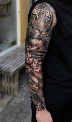 35 amazing sleeve tattoos for men Men wear tattoos today – tattoo sleeve men Samurai Tattoo Sleeve, Tiger Tattoo Sleeve, Lion Tattoo Sleeves, Forearm Sleeve Tattoos, Best Sleeve Tattoos, Top Tattoos, Sleeve Tattoos For Women, Tattoo Sleeve Designs, Arm Tattoos For Guys