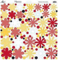 Reminisce Disney Real Magic Flowers Stickers Sheet