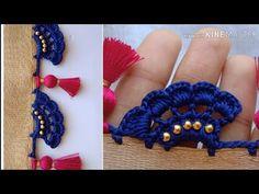 ಸೀರೆ ಕುಚ್ಚು tassels with beads designs tutorial for biginners.learn with me Saree Kuchu New Designs, Saree Tassels Designs, Wedding Saree Blouse Designs, Silk Saree Blouse Designs, Crochet Edging Patterns, Crochet Lace Edging, Crochet Designs, Embroidery Neck Designs, Hand Embroidery Videos