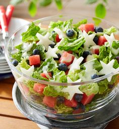 Get back on track after the holiday weekend with this refreshing Red, White and Blueberry Salad!