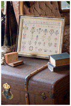 Stiched reproduction sampler - Sarah Tobias from Blackbird Designs