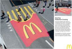 Outdoor ad: McFries: Pedestrian Crossing