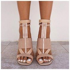 shoes nude heels camel white brown strappy heels sandals high heels leather sandals tan leather nude pumps #Promheels