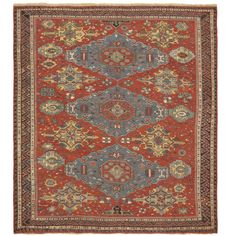 Antique Soumak Rug   From a unique collection of antique and modern caucasian rugs at http://www.1stdibs.com/furniture/rugs-carpets/caucasian-rugs/