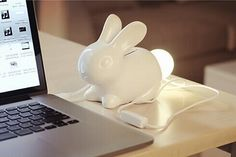 Bunny Lamp With Piggy Bank