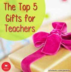 Find 5 top teacher gifts in our Learning Toolkit blog.